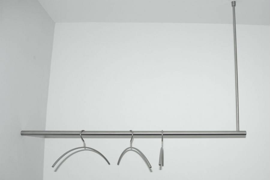 RVS hangkapstok met plafondbevestiging